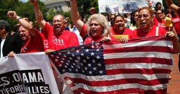 Immigrants And Activists Protest Obama Response To Child Immigration Crisis